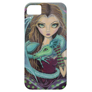 Cute Gothic Fairy and Dragon iPhone Case