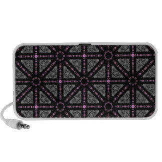 Cute gothic kaleidoscope gray, pink, black mp3 speakers