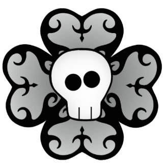 Cute gothic shamrock and skull St Patrick s day Photo Cut Out