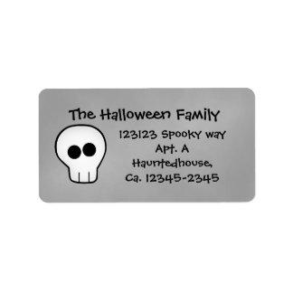 Cute gothic skull Halloween Address Label