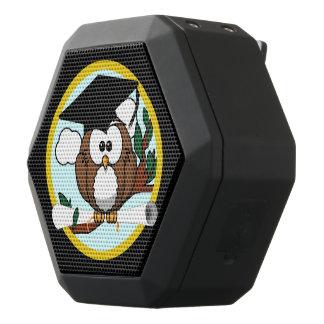 Cute Graduation Owl With Cap & Diploma on Black Black Boombot Rex Bluetooth Speaker