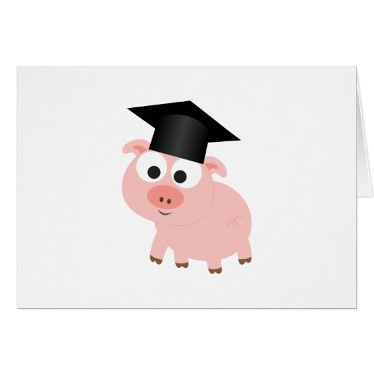 Cute Graduation Pig Card