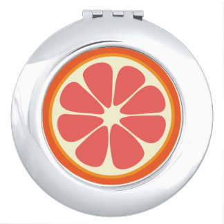 Cute Grapefruit Slice Citrus Fruit Funny Foodie Makeup Mirrors