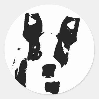 Cute Graphic Boston Terrier Puppy Classic Round Sticker