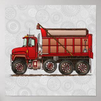 Cute Gravel Dump Truck Poster