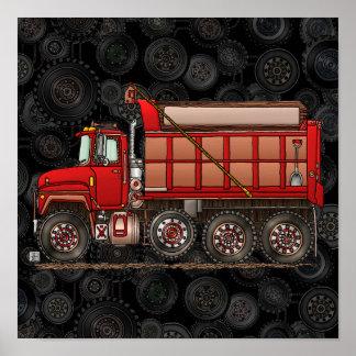 Cute Gravel Dump Truck Posters