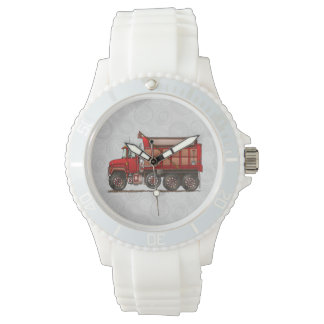 Cute Gravel Dump Truck Wrist Watches