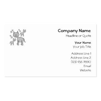 Cute Gray Cats. Cat Cartoon. Business Card Templates