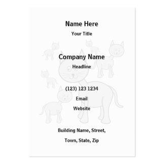 Cute Gray Cats. Cat Cartoon. Business Card Template