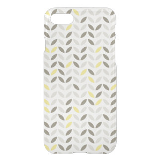 Cute Gray Yellow Leaf Pattern iPhone 7 Case