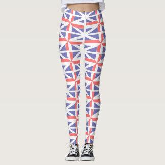Cute Great Britain Flag Abstract Custom Leggings