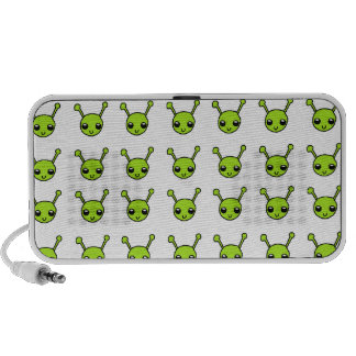 Cute Green Aliens Travelling Speaker