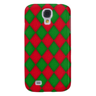 CUTE Green and Red Diamonds Pern 3gs Cas Samsung Galaxy S4 Case