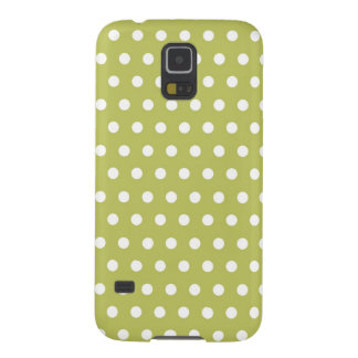 Cute Green and White Polka Dots Pattern Gifts Galaxy S5 Cover