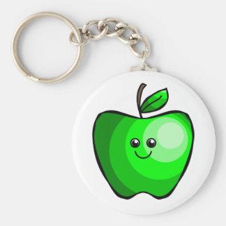 Cute Green Apple Keychain