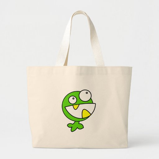 Cute Green Baby Monster Canvas Bag
