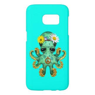Cute Green Baby Octopus Hippie