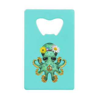 Cute Green Baby Octopus Hippie