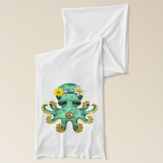 Cute Green Baby Octopus Hippie Scarf
