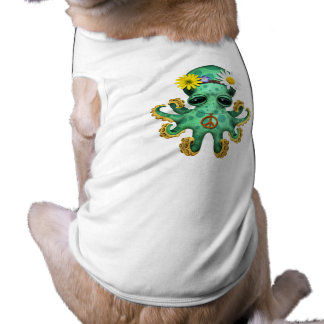 Cute Green Baby Octopus Hippie Shirt