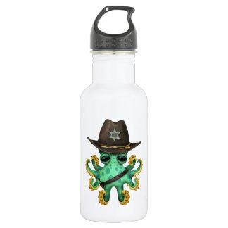 Cute Green Baby Octopus Sheriff 532 Ml Water Bottle