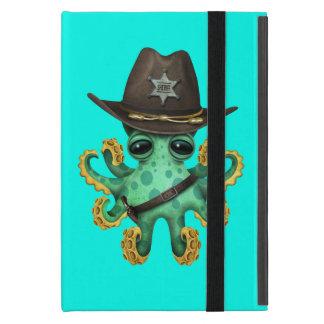 Cute Green Baby Octopus Sheriff iPad Mini Cover