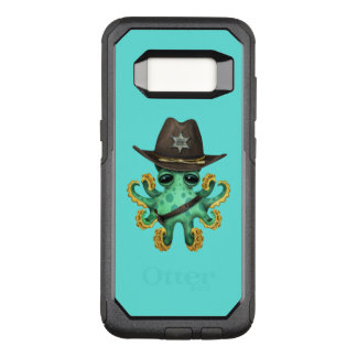 Cute Green Baby Octopus Sheriff OtterBox Commuter Samsung Galaxy S8 Case