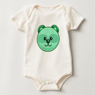 Cute Green Bear Cartoon Customizable Baby Baby Bodysuit