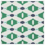 Cute green blue ikat tribal patterns fabric