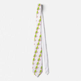 Cute Green Budgie Tie