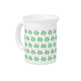 Cute Green Bunny | Kids Birthday Pitcher