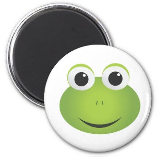 Cute Green Cartoon Frog Magnet