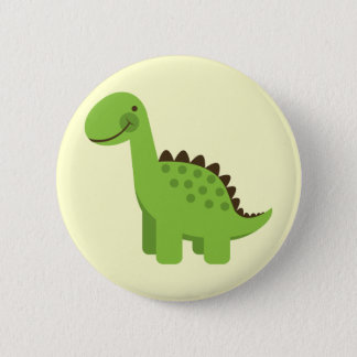 Cute Green Dinosaur 6 Cm Round Badge