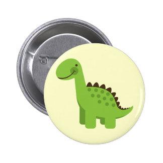 Cute Green Dinosaur 6 Cm Round Badge
