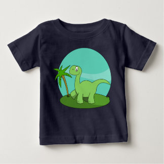Cute Green Dinosaur Baby T-Shirt