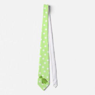 Cute Green Dinosaur Tie