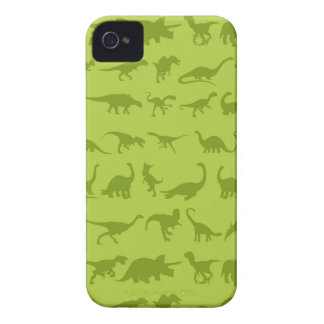 Cute Green Dinosaurs Patterns for Boys Case-Mate iPhone 4 Cases