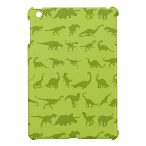 Cute Green Dinosaurs Patterns for Boys iPad Mini Cases