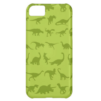 Cute Green Dinosaurs Patterns for Boys iPhone 5C Case