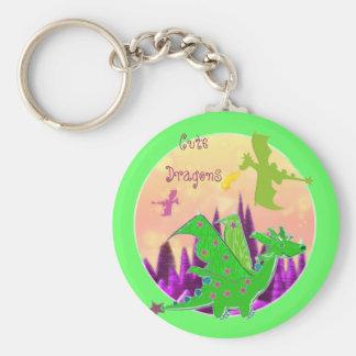 Cute Green Dragon Key Ring