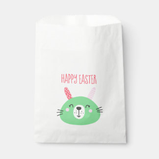Cute Green Easter Bunny Favour Bag