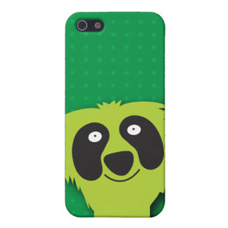 Cute green fluffy Monster i iPhone 5 Covers
