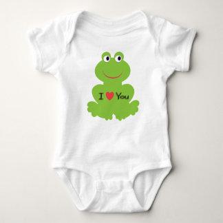 Cute green frog baby bodysuit
