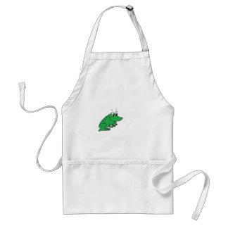 Cute green frog drawing standard apron