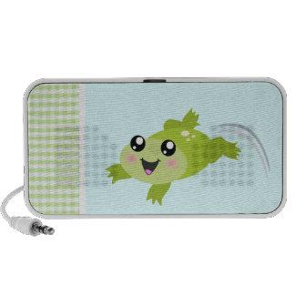 Cute green frog mini speaker