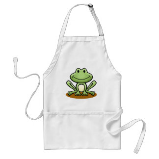 Cute Green Frog Standard Apron