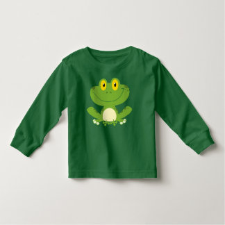 Cute Green Frog Toddler T-Shirt