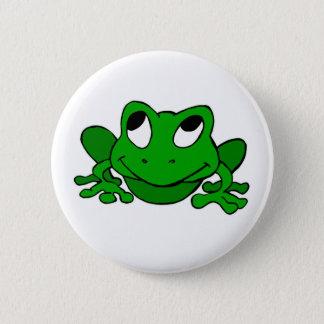 Cute Green Froggie 6 Cm Round Badge