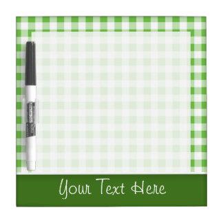 Cute Green Gingham Dry-Erase Board
