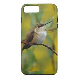 cute green Hummingbird yellow background iPhone 8 Plus/7 Plus Case